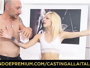 audition ALLA ITALIANA scorching ash-blonde unloads in stiff buttfuck