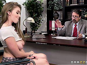 student Lena Paul pummels her dean