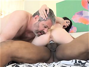 Ivy Aura pokes Neighbor in Front of Her older spouse