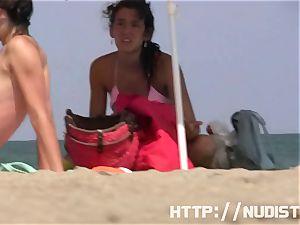 Public inexperienced naturist hidden spycam flick
