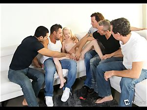Maddy Rose endures her very first gang-bang
