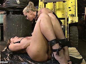 Andy brown and Kathia Nobili backside dildoing rock hard