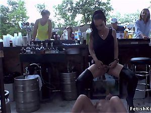 euro honey disgraced in public nude donk