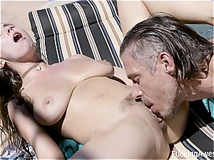 Lena Paul pokes Her Brother's friend