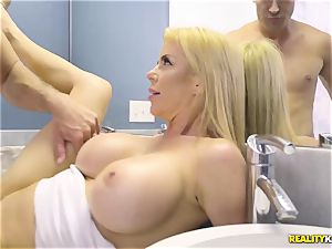 extraordinaire hookup with insatiable ginormous knockers cougar Alexis Fawx and her stepson
