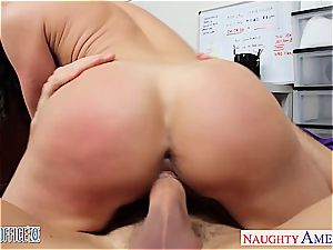 bombshell black-haired Kendra passion tearing up in the office