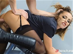 Adriana Chechik ass-fuck romped at the security gates