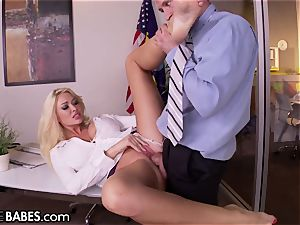 ample baps Office milf Uses soles to punish worker