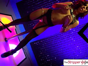 The Stripper practice - Luna star her moist cock-squeezing twat