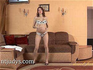 preggie Iviola thumbs her super hot wet vulva