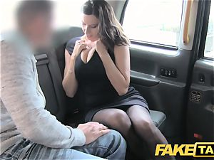 fake cab sizzling big-boobed stunner gets enormous jizz shot
