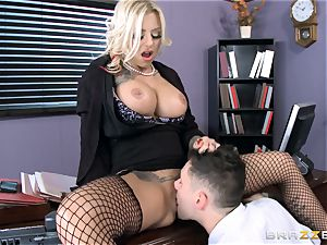 hot Headmistress Britney Shannon gets her forearms on a mischievous college girl
