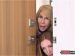 mischievous mummy banging her daughter's boyfriend