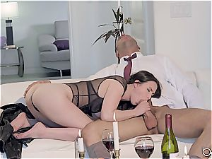 Seduced by a fabulous dark-haired lady