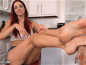 red-hot red headed stunner Jayden Cole all alone
