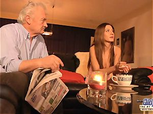grandfather is smashed by ultra-cute dame in News vs Romantic