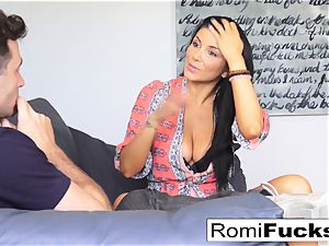 Romi strings up out at James Deen's mansion then drills him
