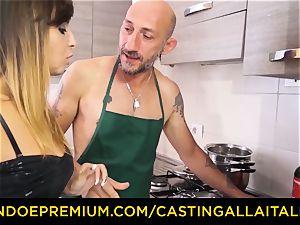 casting ALLA ITALIANA - super hot Italian minx gets deep anal
