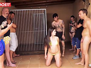 restrain bondage party for yam-sized donk nubile dark-haired Cassie Fire