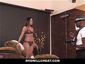 SheWillCheat - super-hot asian wifey rode By big black cock