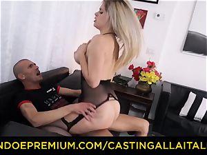 audition ALLA ITALIANA - huge-titted Italian ash-blonde ass ravaged