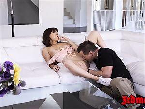 youthful minx Alison Rey nailed after deep-throat