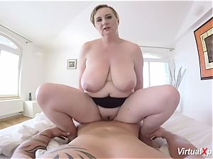 red-hot pov lovemaking with big-chested stepmom