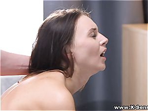 He's so exhilarated by her hottie he could do her all day