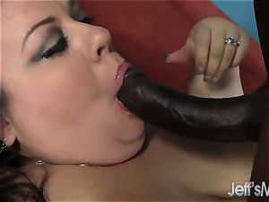 Fatty Desiree Devine takes a ebony salami