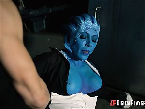 Space pornography parody with red-hot alien Rachel Starr