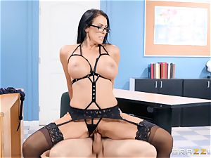 Reagan Foxx tears up her college girl