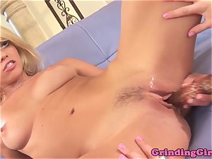 luxurious lezzy Marlie Moore dildo pummeling