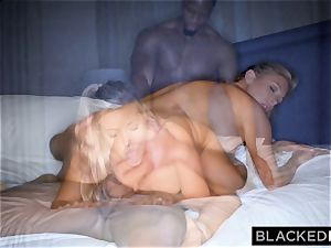 BLACKEDRAW blond trophy wife Cucks Her husband With bbc