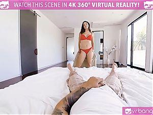 VR porn - huge-boobed Abella Danger casting sofa get mischievous