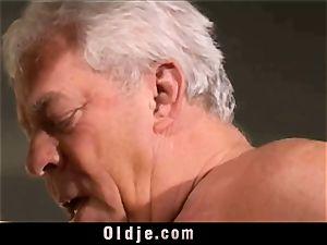 vintage older Teenie female fucked grey hair grandpas