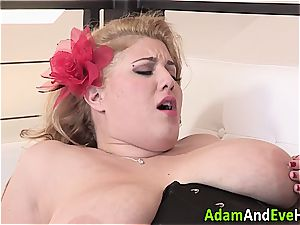 super-sexy plus-size Angel DeLuca banged rigid