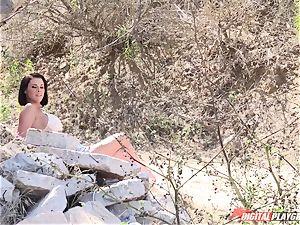 Peta Jensen - fledgling porno with unfamiliar fellows outdoor