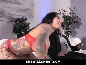 SheWillCheat - mega-slut wife butt screwed by mate