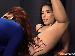 cootchie eating galore with horny Jayden Cole and Eva Lovia