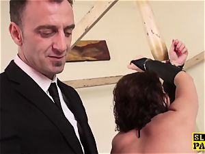 red-haired british marionette assfucked and bound