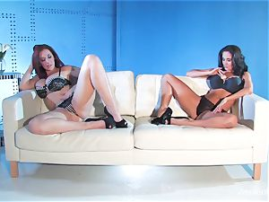Jayden Jaymes shares a phat spear with Ava Addams