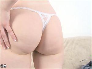 furry platinum-blonde honey rubs her slit