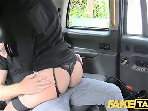 fake cab dark haired club dancer works her magic for ride
