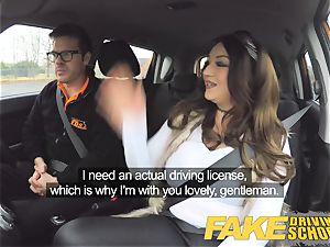 fake Driving college teacher gets titwank busty stunner