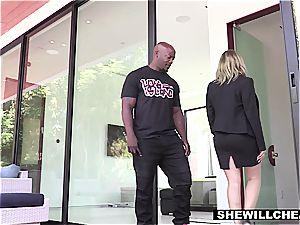 SHEWILLCHEAT - crazy Real Estate Agent bangs big black cock