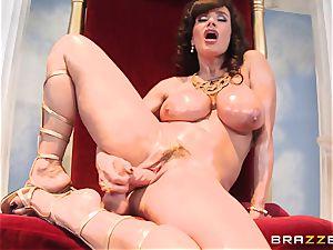 Divine mature Lisa Ann tests humungous man-meat on Olympus