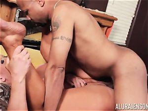 Alura Jenson slammered ball sack deep and receives super-fucking-hot scorching internal ejaculation