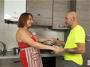 casting ALLA ITALIANA - Italian redhead deep buttfuck romp
