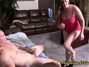 dad daughter-in-law Get unloaded, Caught in the activity by mom