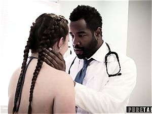 Maddy O'Reilly Exploited into big black cock ass fucking at Doctors exam